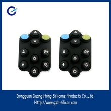 Custom silicone rubber push buttons for toys