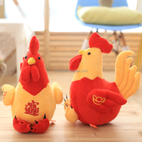 2017 wholesale Chinese new year plush stuffed toy Rooster kids toy bayby toy