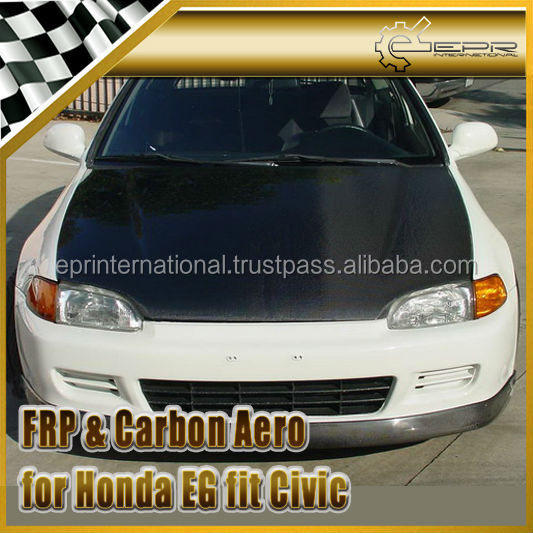 For Honda EG fit Civic OEM Carbon Fiber Hood Bonnet
