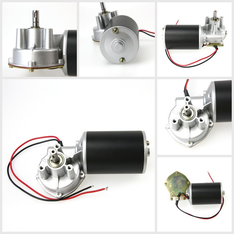 73mm Garage doors rolling gates 12V dc worm geared motor for Health Care Equipment
