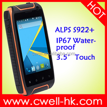 IP68 Waterproof Android Rugged Phone 3.54 Inch Touch Screen MTK6582 Quad Core 1GB RAM/8GB ROM 5.0MP Back Camera WIFI ALPS S922