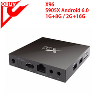 X96 Android 6.0 Smart TV Box Quad core 1G+8G 4K*2K Wifi APPS Pre-installed Media Player Set Top Box pk A95x