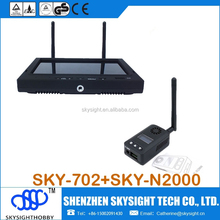 Sky-N2000, 2w 5.8ghz fpv video transmit + SKY-702 LCD diversity receiver with foldable sunshade cover for fatshark goggles fpv