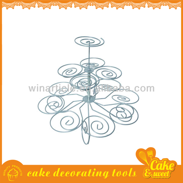 Unique cupcake holder stainless steel cake stand