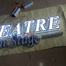 Outdoor advertisign led raised letter sign hair salon open sign