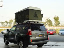fiberglass car roof top tent