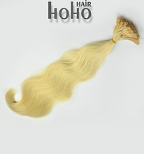 star quality hair extensions blond color body weave nail tip u tip