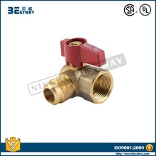 Brass 90 degree LPG gas ball valve
