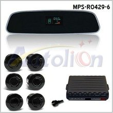 Car VFD Rearview Mirror Parking Sensor System With 6 Sensors MPS-R0429-6