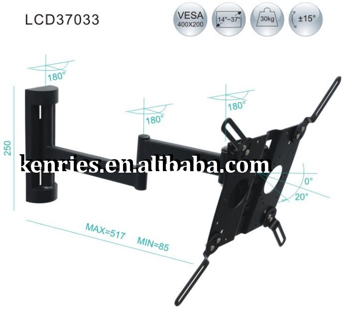 Swivel and Adjustable TV Stand TV Bracket for 14''-37'' LCD screens (KRS-LCD37033)