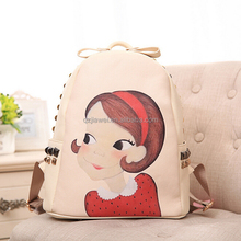 New Promotional Trendy Fancy canvas japan style School Bags wholesale