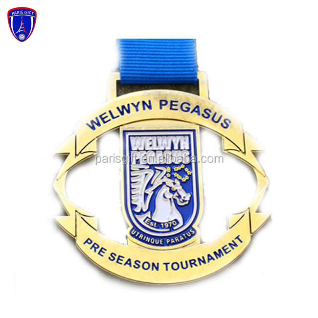 New designs irregular shape cheap wholesale custome gold medals for Pre season tournament