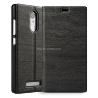 Leather Texture Ultra diary cell phone case for xiaomi note, wood hard case