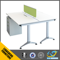 Latest stlylish office table design office partition double side computer table for 2 person