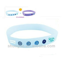 fashion leader jewelry silicon UV bracelet vners