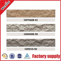 brick unglazed ceramic exterior wall tile for villa cheaped from foshan manufacturer