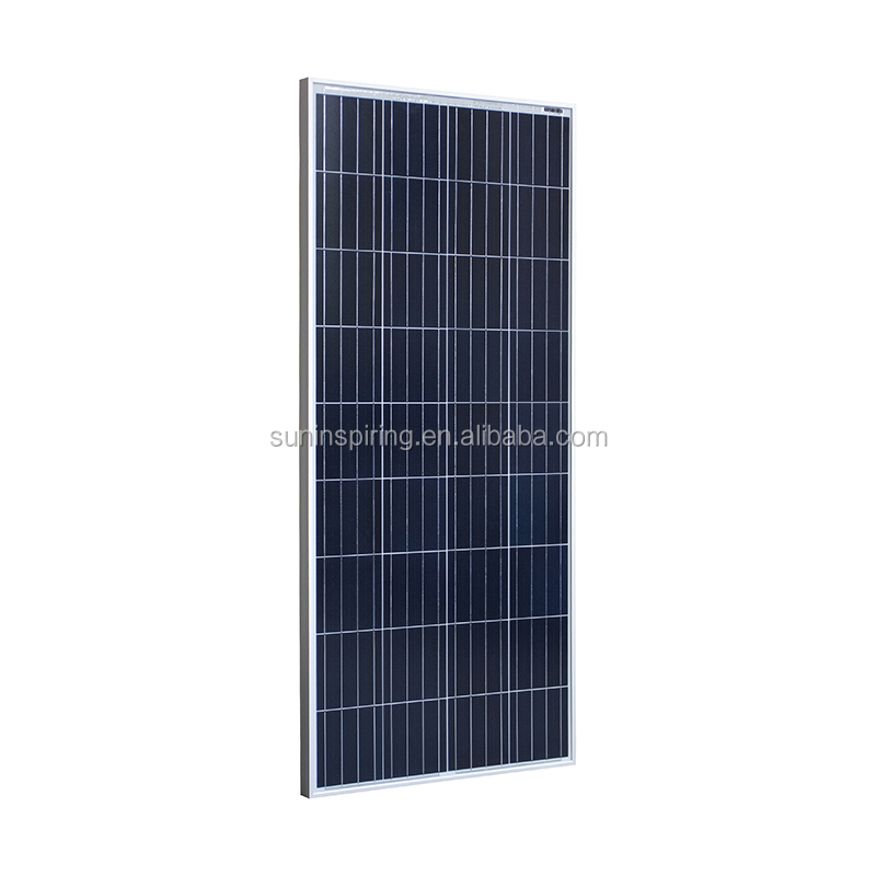 150W poly solar panels for home solar systems, solar panel production line in china