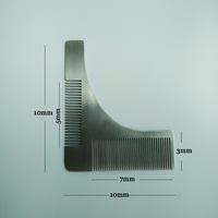 High Quality Professional Men's mustache comb Anti Static Stainless Steel 306