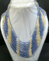 Magnificent!!! 11-strand Blue And Yellow Sapphire Necklace