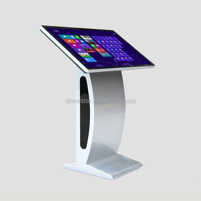 "24"" inch LED all-in-one touchscreen PC Kiosk stand digital AD signage information interactive display"