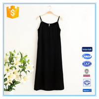 Women Retro Simple Model Dress Black Underdress