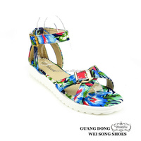 PVC cross open toe ankle strap adjustable white flat sole new sandal 2016 women
