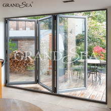 Japanese modern cheap metal exterior glass aluminum accordion doors