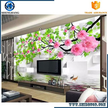 Customize 3d tv Background Wall mural hd effect 3d wallpaper offered by china factory