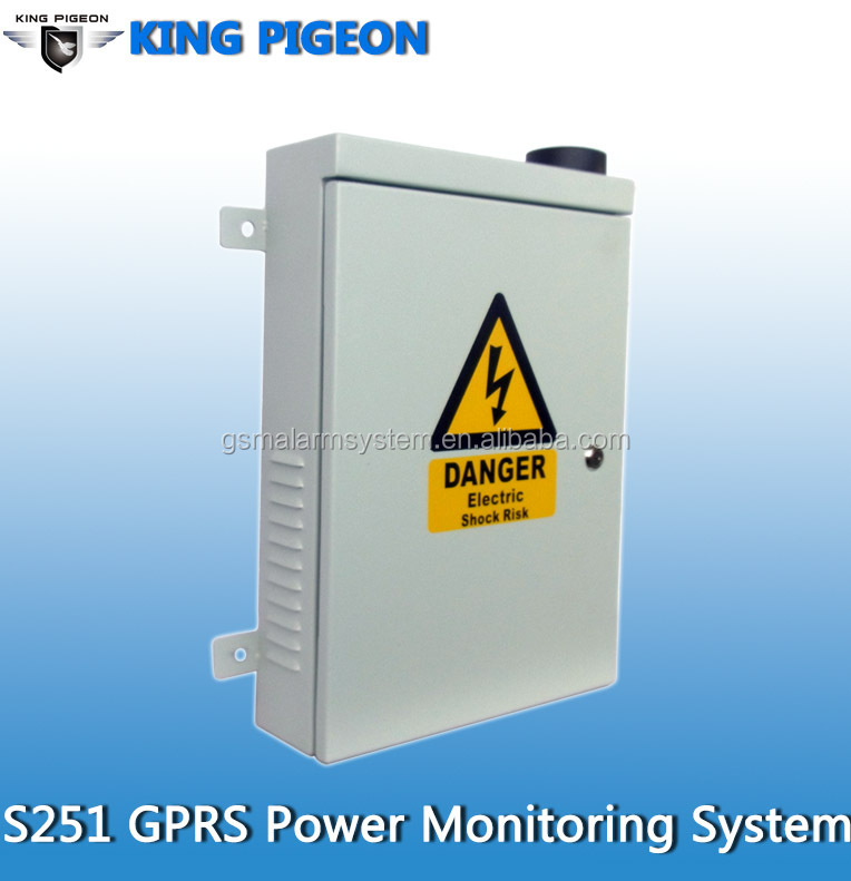 S250 GSM outdoor alarm control unit GSM Alarm For Power Grid transformer alarm Supports solar panel keep working well