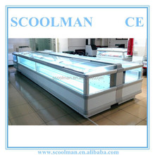 Supermarket Curved Glass Lid Chest Freezer