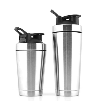 custom 700ml 304 stainless steel shaker bottle with leak proof lids
