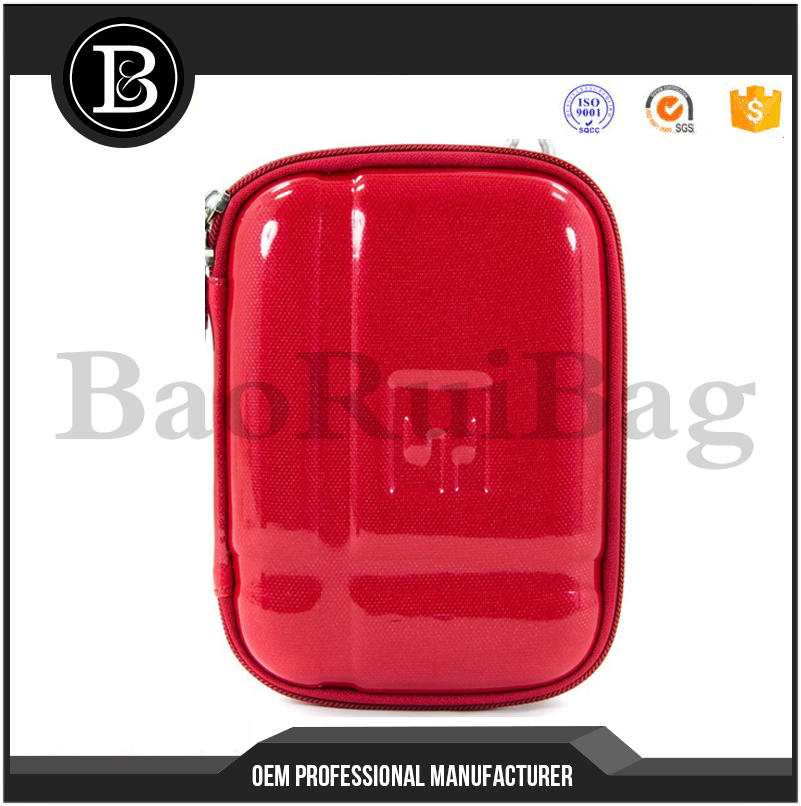 "Anti Shock EVA 2.5"" External Hard Drive Case Shockproof 2.5"" HDD case Zipped Padded Pockets for Memory Cards RED"