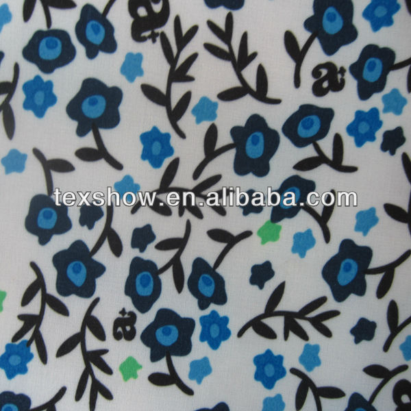 flower printing 4 way stretch fabric with PU transfer coating