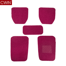 Factory supply Rose-carmine PVC heat Universal 5 pieces clean fashion customized car coil mat in korea