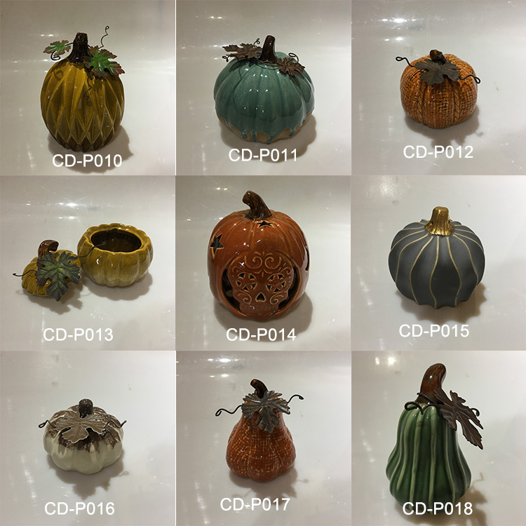 Halloween Ceramic pumpkin design jar for storage