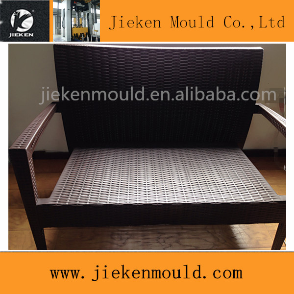 rattan textured with surface chair injection mould wicker shape chair mould factory