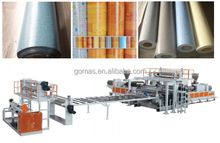 Double layer 0.5-2mm thick PVC floor production line/PVC floor making machine