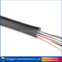 Self-closing wrap sleeve cable shrink wrap