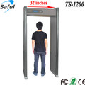 32 inches super width 12 zones LCD display gate frame metal detector scanner