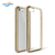 For iphone 7/8 plus cell electroplate mirror edge clear tpu back soft phone case