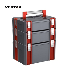 VERTAK Mechanic Modular ABS plastic toolbox with small middle and large tool box