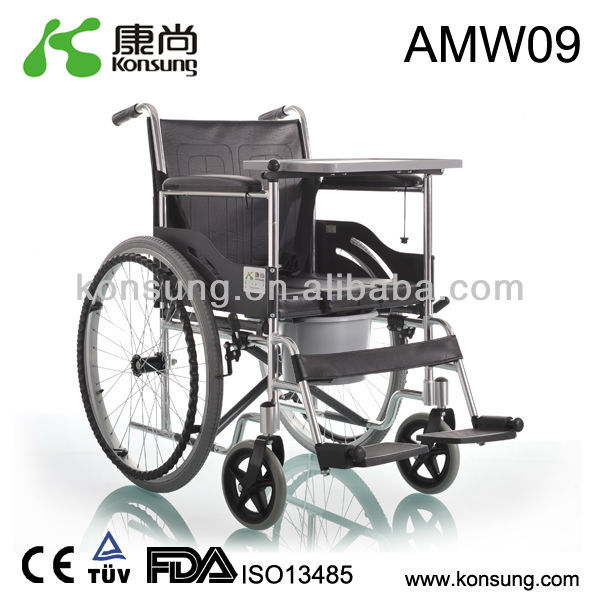 Completely anodized Aluminum commode wheelchairs