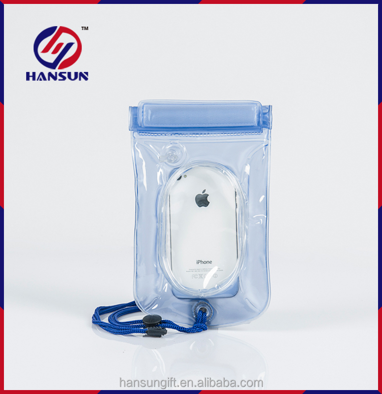 New design PVC waterproof bag for phone or camera with air inflation/Dry phone