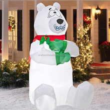 2016 LED lighted Christmas Inflatables Polar Bear/ christmas yard ,inflatable christmas cartoon