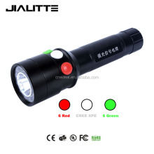 Jialitte XPE Q5 Led Lamp 300LM White RED Green Light Emergency Railway Signal torch Led flashlight F026