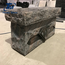 Cheap granite headstone cemetery bench tombstone