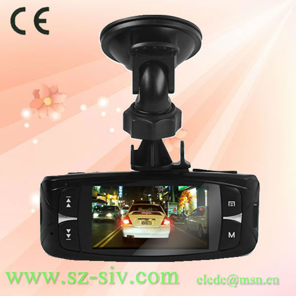New Arrival Ambarella A2S60 OmniVision OV2710 real full 1080P HD 30fps camera suction cup mount car black box
