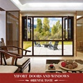 Swing Open Style and Vertical Opening Pattern commercial aluminum window