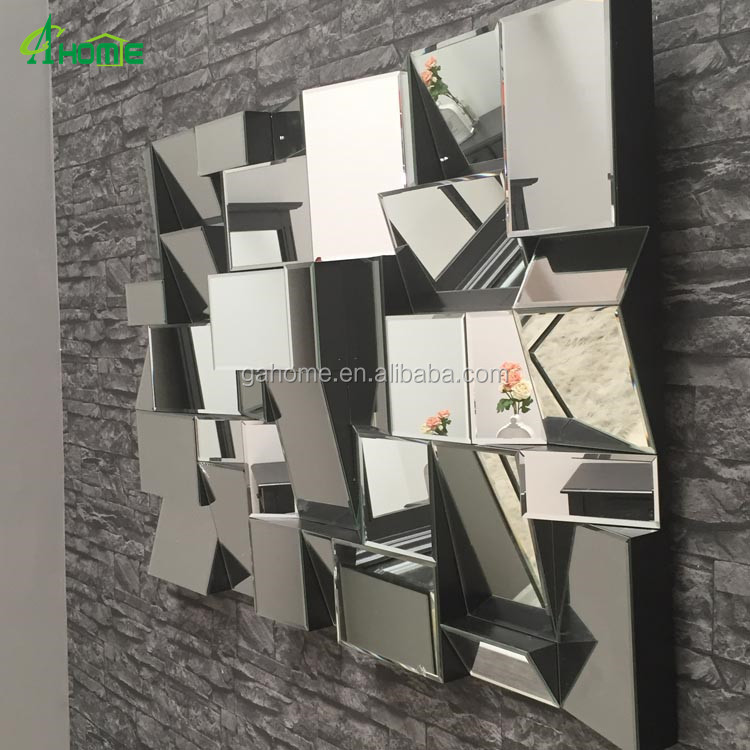 Contamporary Handcraft 3d Large Multi Faceted Wall Mirror