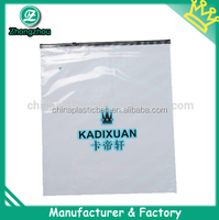 plastic reclosable large shopping bag with zipper with customers' logo prints